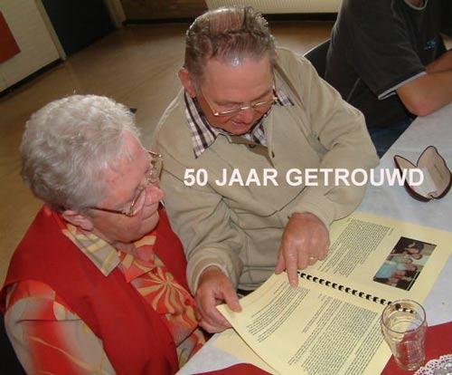 50 Jaar Getrouwd Gouden Paar Huwelijks Bruiloft Feest